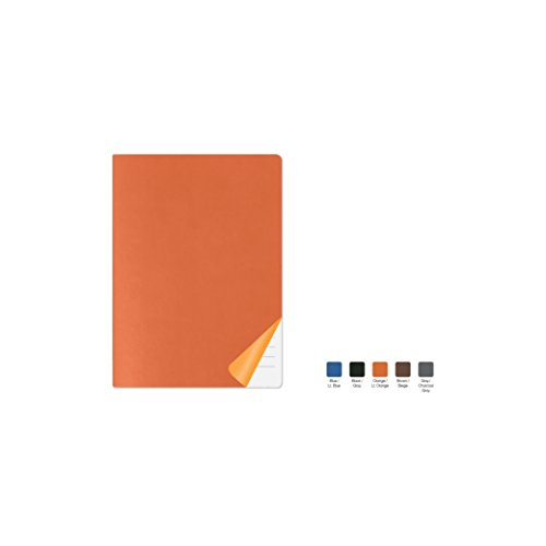 DUET Ruled, Flexicover Executive Notebook Journal, Premium Paper, 192 Lined Pages, Two-Tone Flexible Cover, Fountain Pen Friendly, Orange & Light Orange Cover, Size 5.75