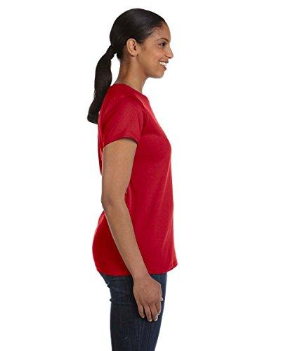 Hanes T Shirt Donna Asimmetrico rosso rosso qqxrdC8wS