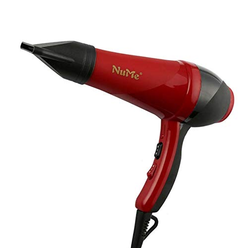 Ionic Hair Dryer,2100W AC Motor Salon Fast Blow Dryers 3 Heat 2 Speed Settings Far Infrared Dry Hair Machine with Hair Diffusers,Red