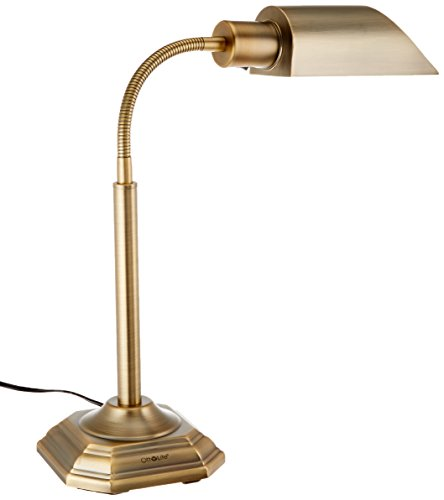 OttLite 20C15HB1  20-watt  HD Alexander Table Lamp, Honey Brass Finish