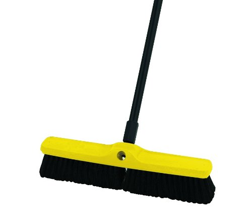 Rubbermaid Commercial Polypropylene Plastic Foam Block Medium Floor Sweep, 24-Inch Head Width, Black (FG9B0900BLA) by Rubbermaid Commercial Products (Image #2)