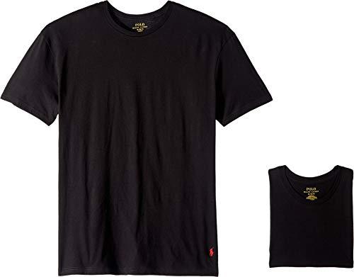 (Polo Ralph Lauren Classic Fit Cotton T-Shirt 3-Pack, L, Black)
