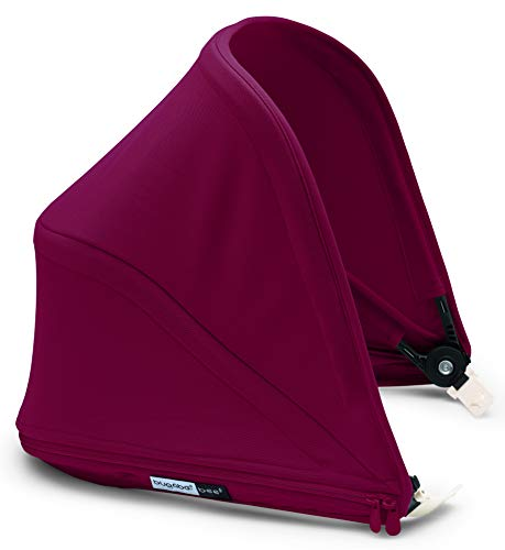 Bugaboo Bee5 Sun Canopy, Ruby Red - Extendable Sun Shade for Full Weather Protection, Machine Washable