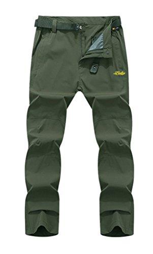 Uomini Esterna Pantaloni Arrampicata Green Degli Army Asciugatura Antivento Geval Di Escursioni Rapida pzwxa