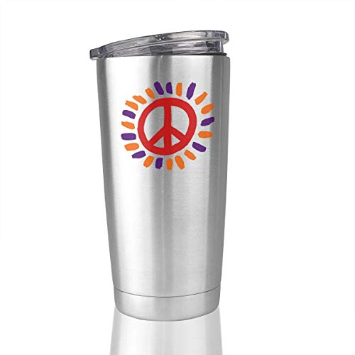 20oz Stainless Steel Tumbler Sun Peace Sign Vacuum
