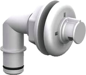 Flow-Rite Spray Head, Elbow, Barbed (Barbed Heads)
