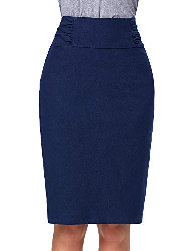 Kate?Kasin?Fashion?Collections - Jupe - Sans Manche - Femme Navy Blau(kk268-4)