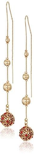 GUESS Threader Gold Drop Earrings