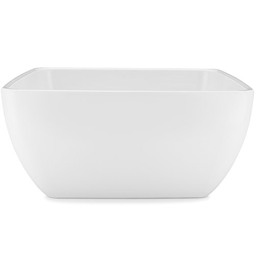 (Q Squared Diamond White BPA-Free Melamine Serving Bowl, 10-1/2 Inches, White)