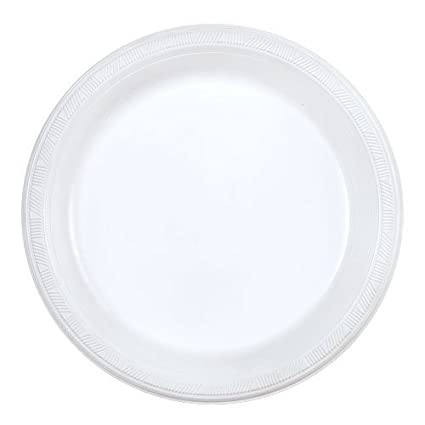 Party Dimensions 100 Count Plastic Plate 9-Inch White Club Pack  sc 1 st  Amazon.com & Amazon.com: Party Dimensions 100 Count Plastic Plate 9-Inch White ...