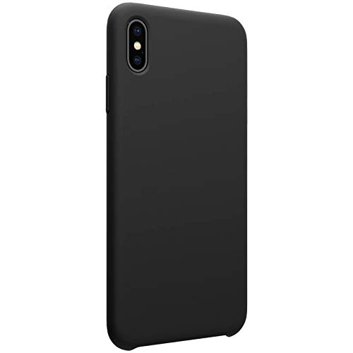 Nillkin Case for Apple iPhone X (5.8″ Inch) Flex Pure Case Liquid Silicon Finish Anti Finger Print with Inner Microfibre Lining Black Color