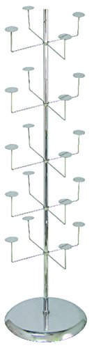 AMKO R26 Hat Displayer – Hat Hanger, 5-Tier, Chrome Finish, Hat Display Stand. Retail Displays and Racks by AMKO Displays