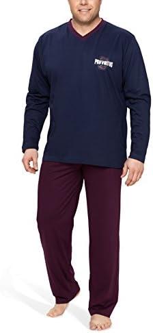 Moonline Plus - Pijama de Hombre Largo y de algodón en Tallas ...