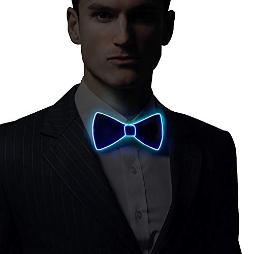 RaveLife Light Up Bow Tie LED El wire Tie for Party Christmas Festival Rave Party Gift Fashion Limited Collection,One Size (White, 1) for $<!--$16.95-->