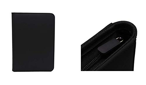 Black Dex Protection Zip Binder 9 Card Storage Zipper Binder