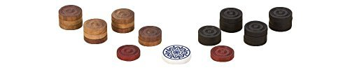 Uber Games Carrom Game Coins and Striker Set  Wooden by Uber Games