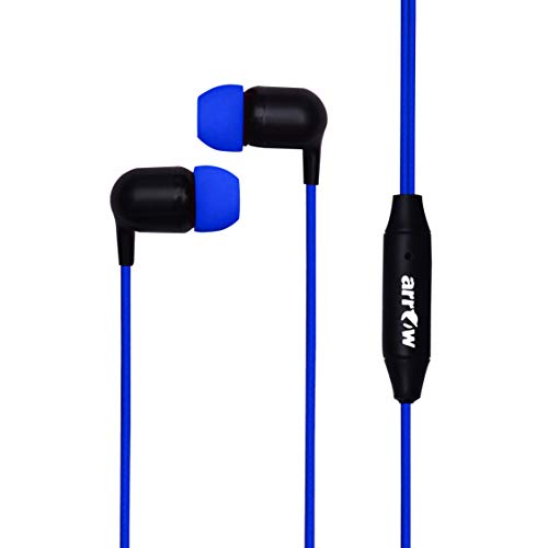 Arrow Stereo Earphone MX 06 in Ear Wired Headset with mic Sound  Blue