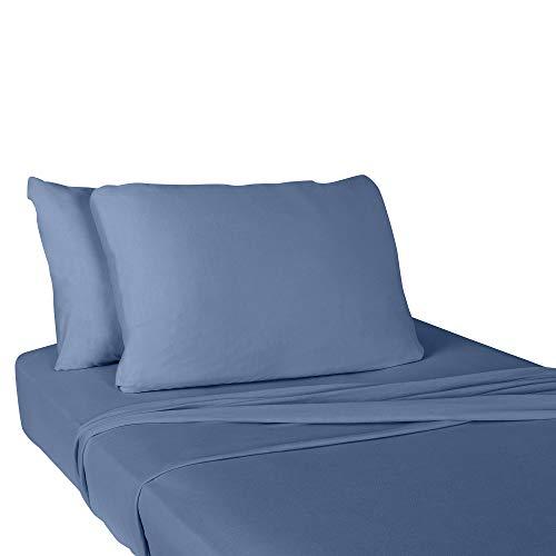 IDEAhome Jersey Knit Super Soft Pillow Cases, Polycotton, Envelope Closure End, Standard Size, 20
