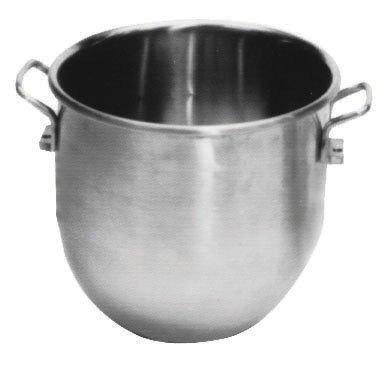 Johnson Rose 7222 Mixing Machine Bowl, 20 quart Capacity, Fits Hobart Mixers, 18-8 Stainless Steel, 18 mm Thickness