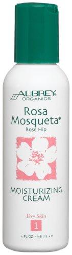 Aubrey Organics Rosa Mosqueta Rose Hip Moisturizing Cream, 4-Ounce Bottle