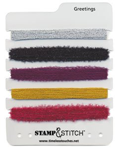 Timeless Touches Stamp & Stitch, Fiber Set - Greetings