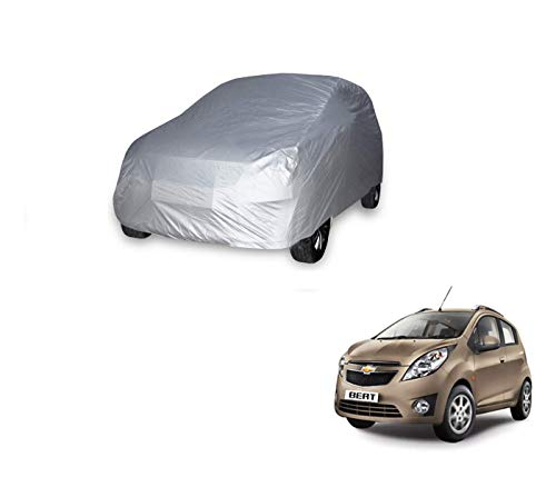 Auto Hub Waterproof Silver Car Body Cover Compatible with Chevrolet Beat  Model : 2010 2016