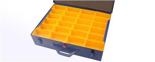 1 Stahlblech Sortimentskasten 440x330x100 mit 47 F/ächern leer