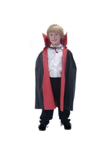 Red And Black Cape (Rubie's Costume Men's Reversible 36-Inch Taffeta Cape, Black/Red, One Size)