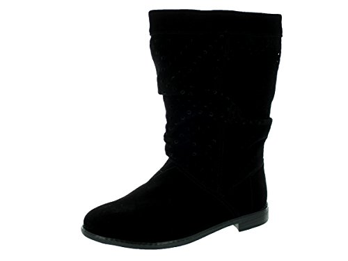 Toms Women's Serra Black Suede Boot 8 Women US