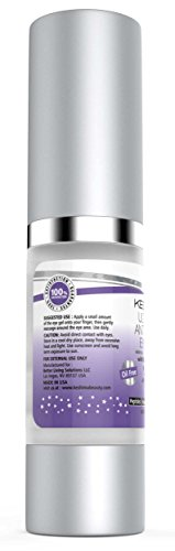 Best Eye Gel for Crow's Feet, Puffiness, Sagging Skin, Dark Circles and Wrinkles - Anti-Aging Cream w/ Plant Stem Cells, Vitamin C, Hyaluronic Acid, Complex Peptides, Aloe and Green Tea - Oil Free