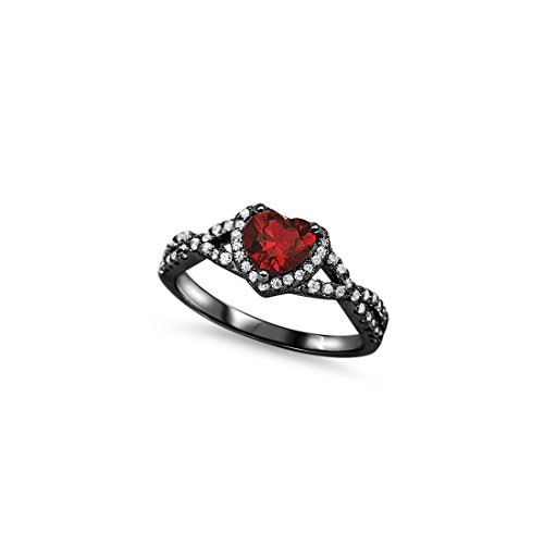 Halo Infinity shank Heart Promise Ring Round Cubic Zionia 925 Sterling Silver Choose Color