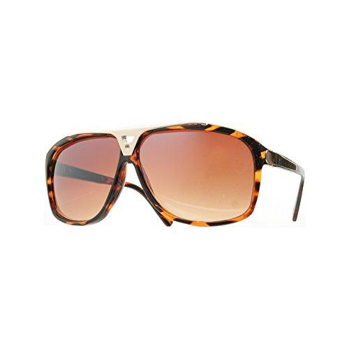 House of Sunglasses Men's Evidence lV Tortoise Frame Brown Lens 5.1cm - Lv Mens Glasses