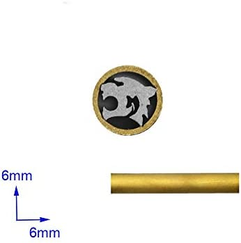 Durchmesser 8 mm Jagdmesser Mosaiknieten f/ür Messergriff Verschlussstifte Mosaikschraubennagel L/änge 4,5 cm Tiger
