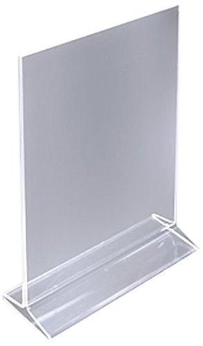 (Pack of 4) 5'' x 7'' Acrylic Sign Holder / Clear Table Card Display / Plastic Upright Menu Ad Frame by The Cook's Connection by The Cook's Connection