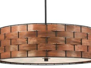 - Kenroy Home 92038DWW Shaker 3-Light Pendant