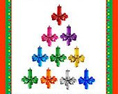 100 Ceramic Christmas Tree Candle Lights Assorted Color