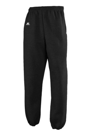 Russell Athletic Men's Dri-Power Closed-Bottom Fleece Pocket Pant - Large - Black from Russell Athletic