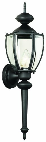 Thomas Lighting SL94767 Park Avenue Collection 1 Light Outdoor Wall Sconce, Matte Black