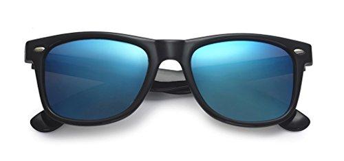 POLARSPEX POLARIZED UNISEX 80S RETRO CLASSIC TRENDY STYLISH SUNGLASSES Black | Ice Blue