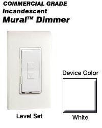 - MRI06-1LW Leviton Decora Mural Level Set Dimmers