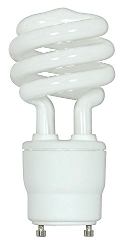 (2-Pack) Satco S8205 18-Watt 2700K GU24 Base Mini Spiral Compact Fluorescent Lamp, 75W Equal (Fluorescent Lamp Spiral)