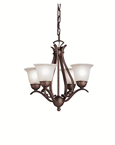 Tannery Bronze Single-Tier Mini Chandelier with 4 Lights - 72in. Chain Included - 18 Inches Wide
