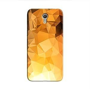 Cover It Up - Gold Sunrise Pixel Triangles Lenovo Zuk Z1 Hard Case