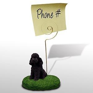 1 X Poodle Note Holder (Black Sport cut)