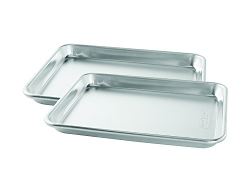 Nordic Ware Natural Aluminum Commercial Bakers Quarter Sheet, 2-Pack