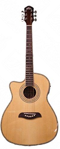 Oscar Schmidt Left Hand 3/4 Acoustic/Electric Guitar, Lefty, Natural, OG1CELH