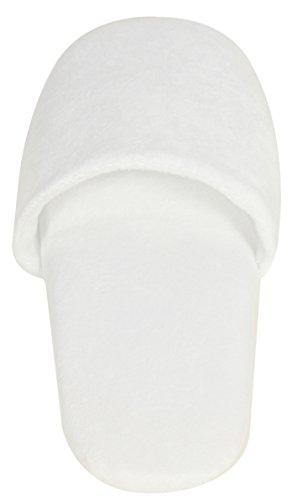 LUXEHOME Weiße Velours Hotelslipper Fußpflege Massage Hausschuhe, 5 Pairs