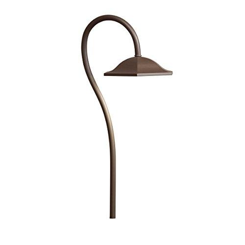 Kichler Lighting 15807AZT Shepherd's Crook LED 12-volt Path and Spread Landscape Light, Textured Architectural Bronze Finish (Architectural Bronze Textured Line)