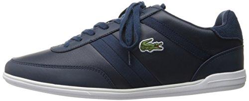 Lacoste Men's Giron 416 1 Spm Fashion Sneaker, Navy, 11 M US