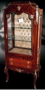 Barock Vitrine Rokoko Antik Stil Schrank Louis XV MoVi0557
